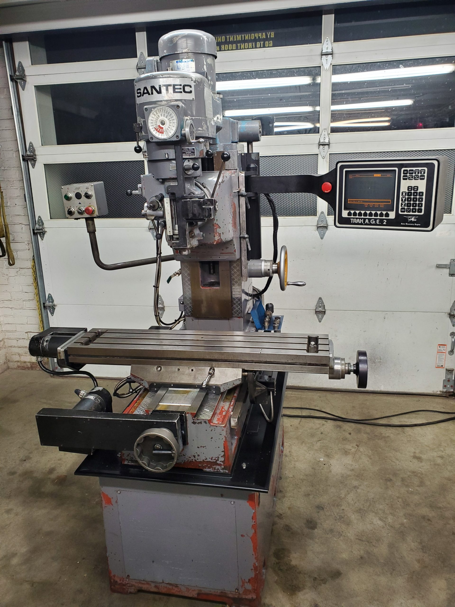 Sentec Bed Mill with Southwestern Industries CNC 2 axis Control Image